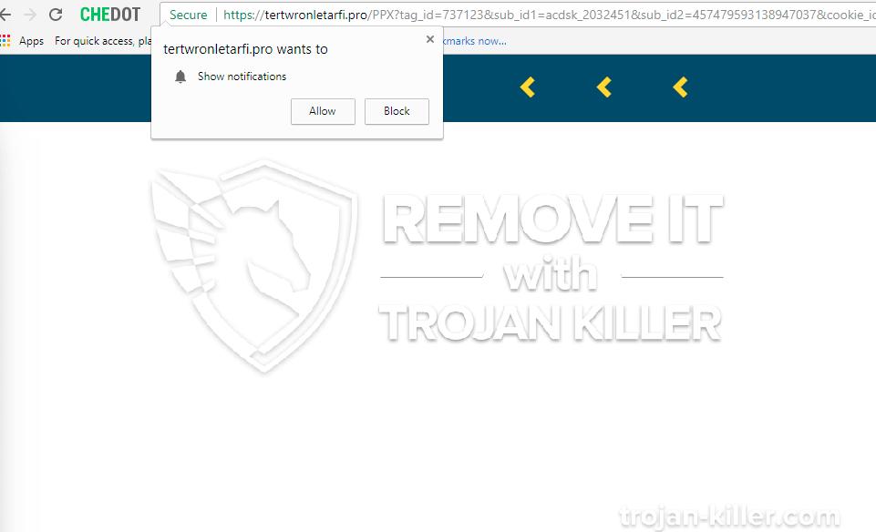 Tertwronletafri.pro virus