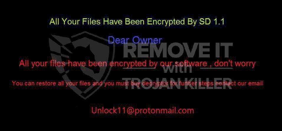 SD 1.1 vírus ransomware
