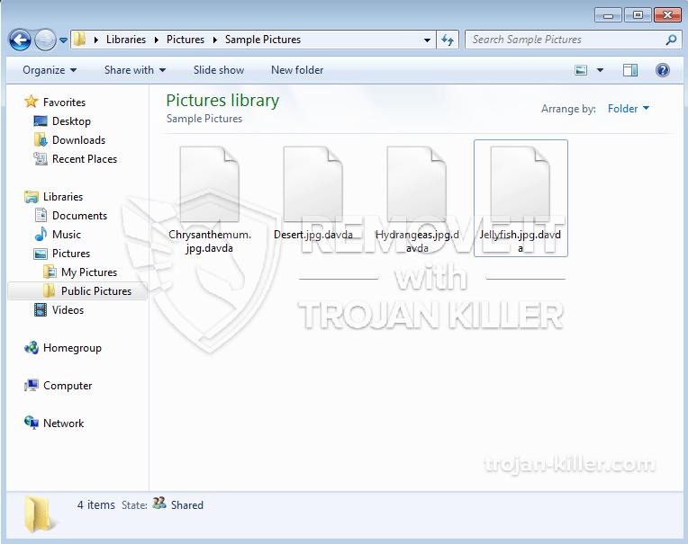 .vírus ransomware Davda