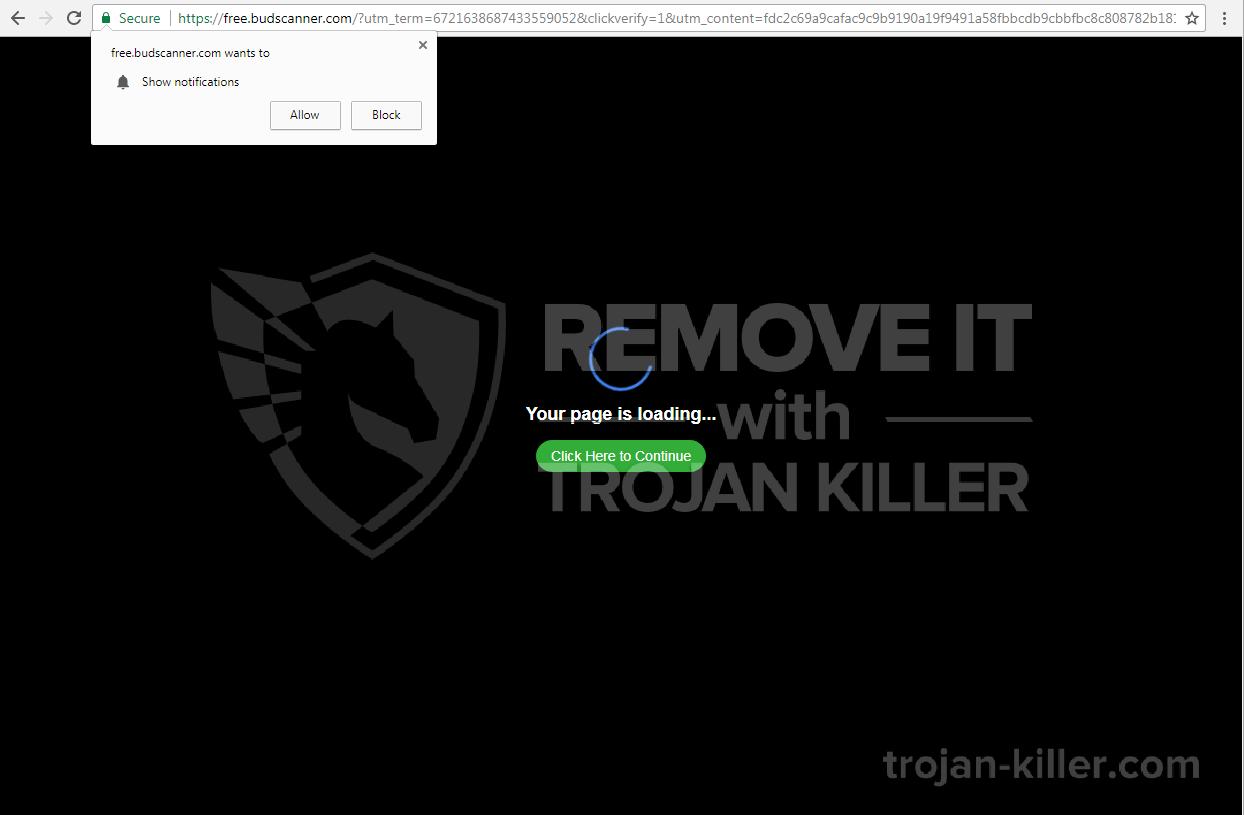 Budscanner.com virus
