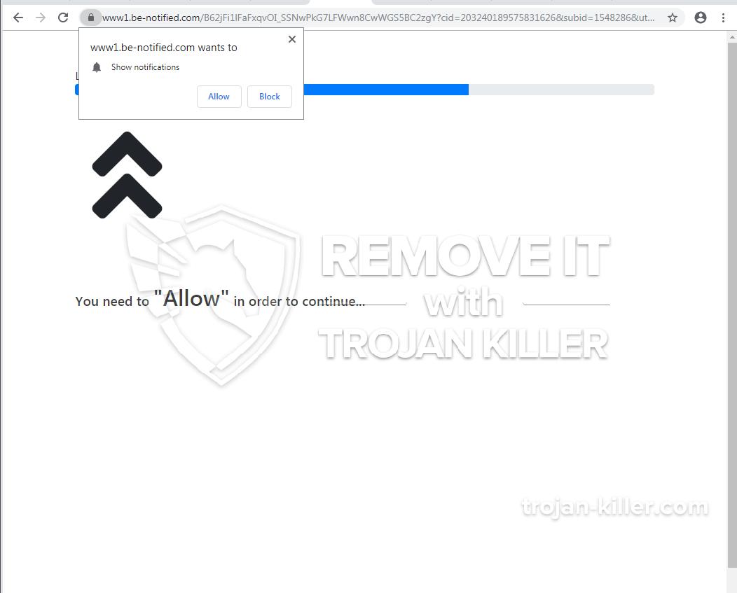 Be-notified.com virus