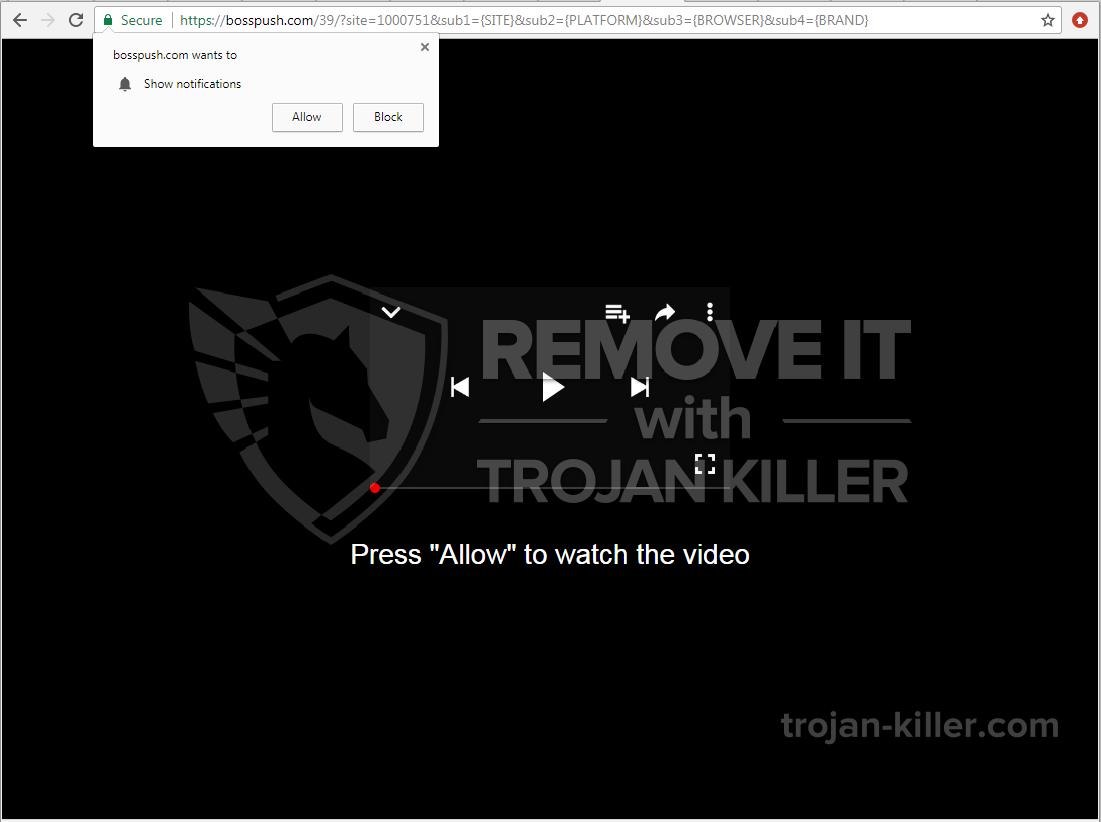 Bosspush.com virus