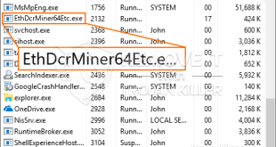 How to remove EthDcrMiner64Etc.exe CPU Miner Trojan