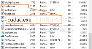 Cudac.exe – Virus Files Removal