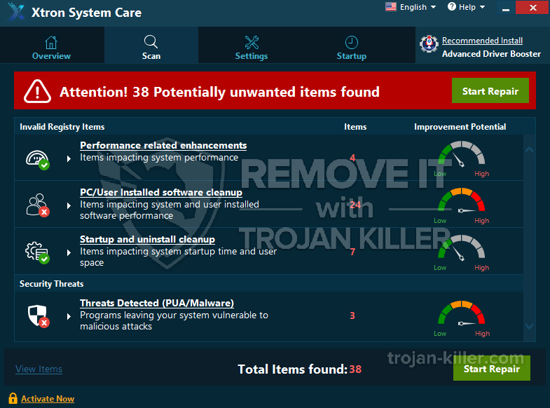 eliminar Xtron Care System