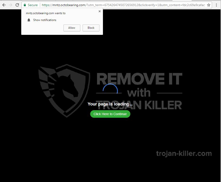 Octobearing.com virus