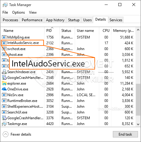 What is IntelAudoServic.exe?