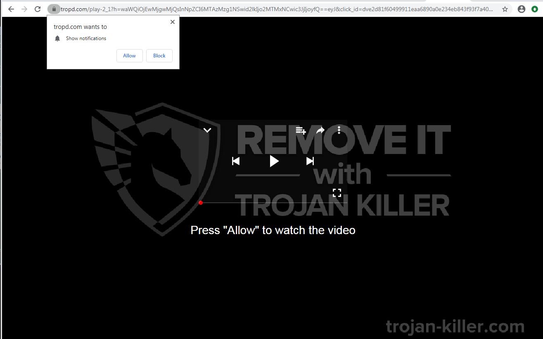 Tropd.com virus