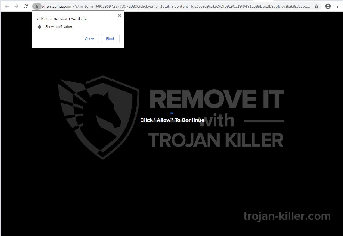 Csmau.com virus