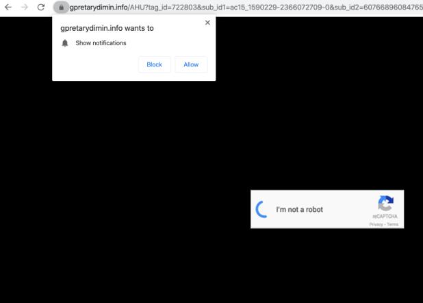 gpretarydimin.info Umleitung Malware