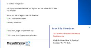 Remover Max File Shredder (Instruções de desinstalação).