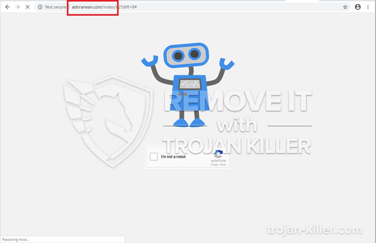 Adoranean.com 바이러스