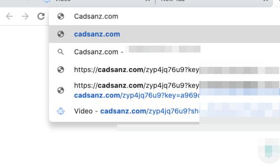 Cadsanz.com omdirigerer