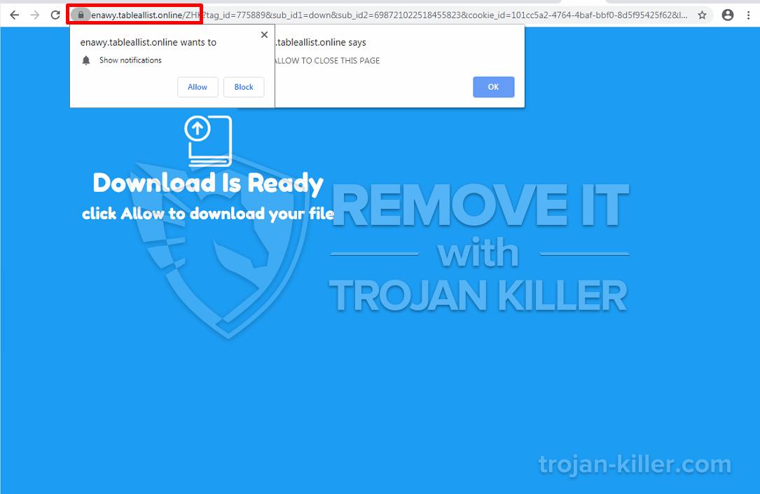 Tableallist.online virus