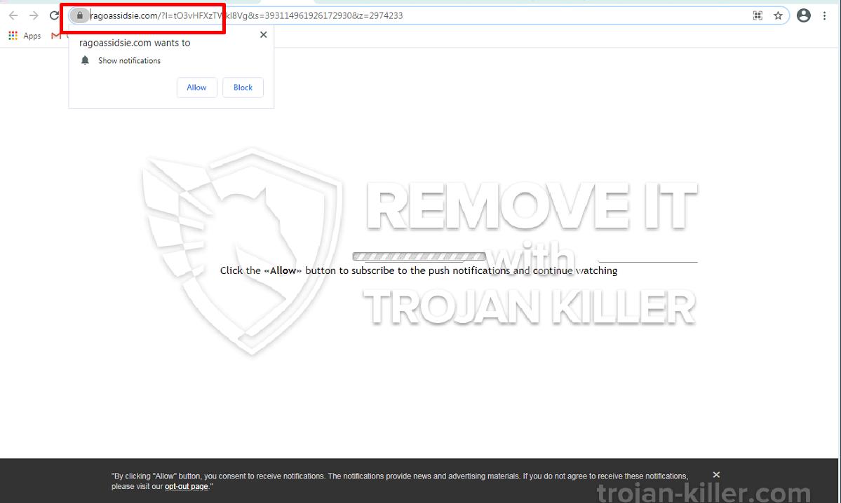 Ragoassidsie.com virus