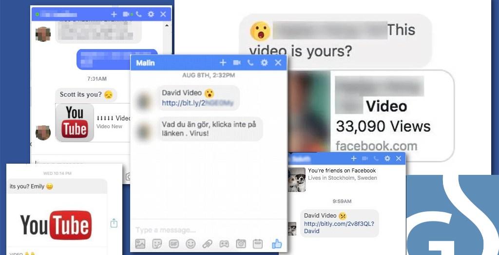 Virus de Facebook - una campaña de spam moderna.