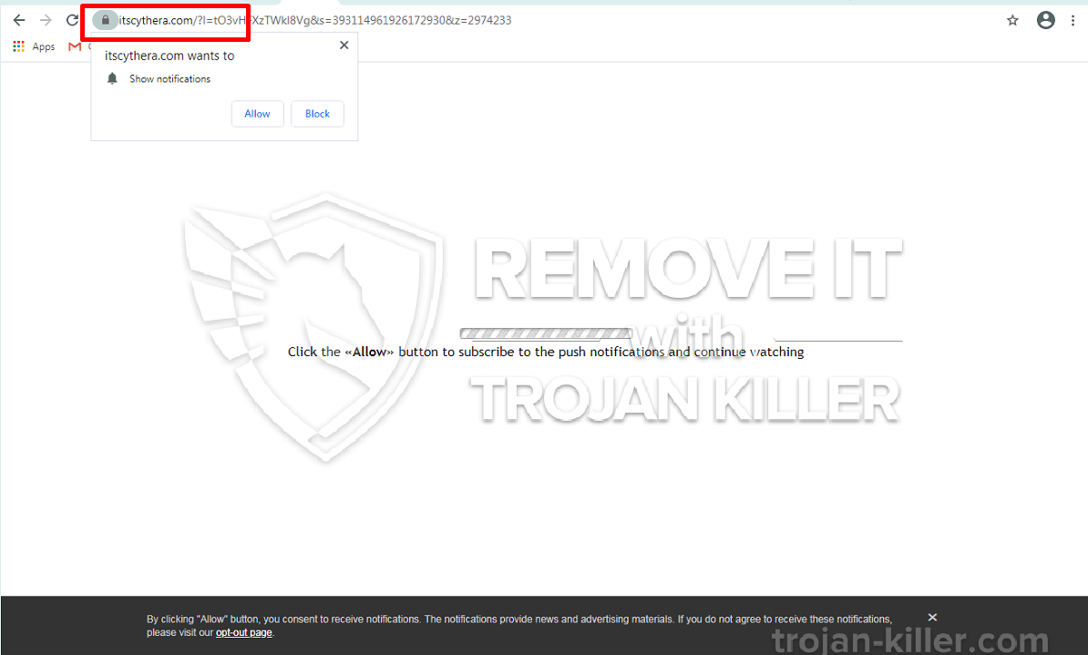 Itscythera.com virus