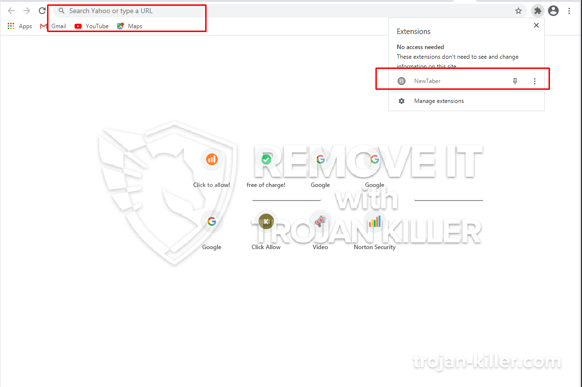 Newtaber.com virus