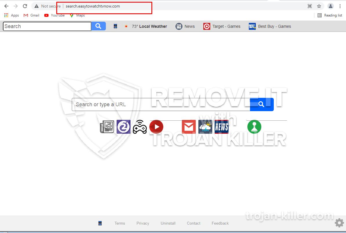 Easytowatchtvnow.com virus