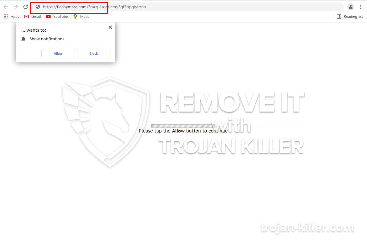 Flashymass.com virus