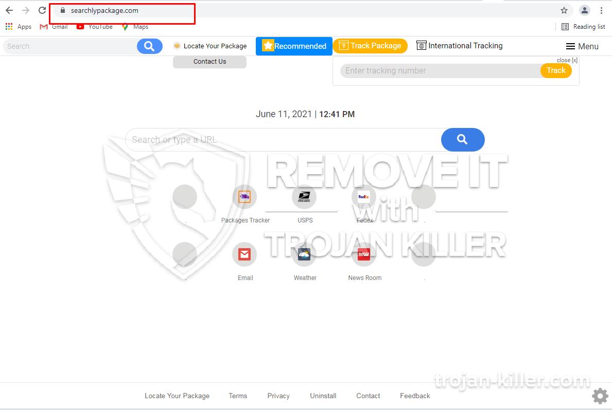 Searchlypackage.com virus