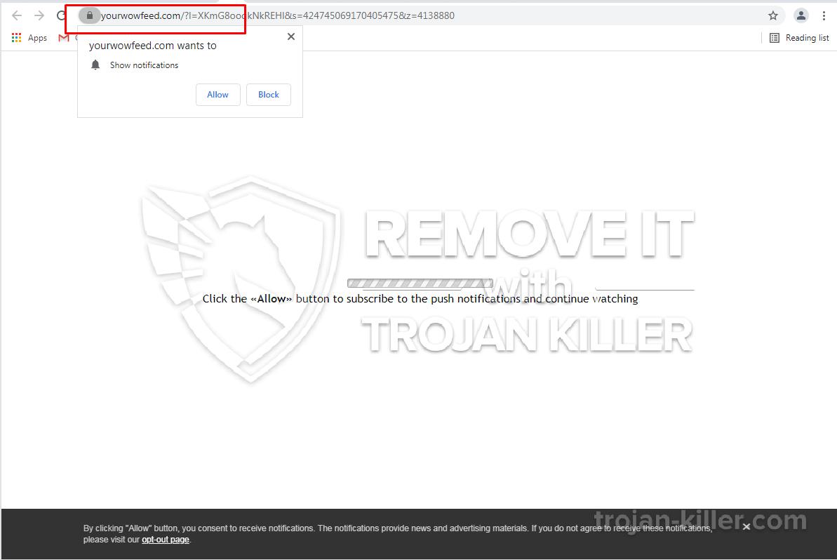Yourwowfeed.com virus