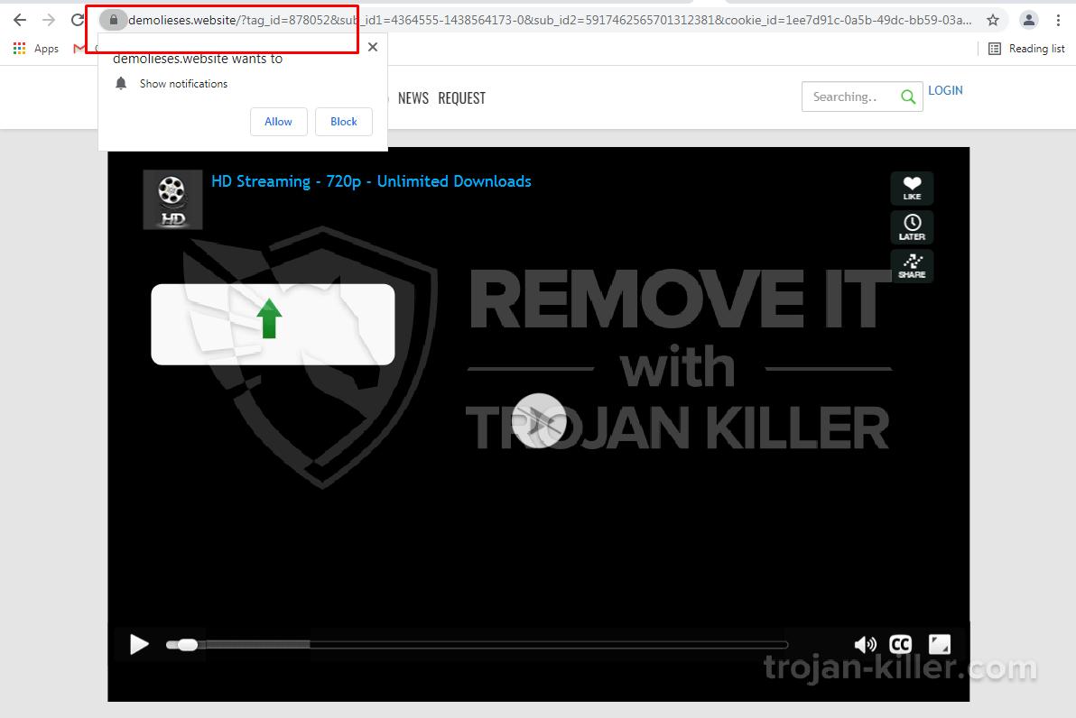 Demolieses.website virus