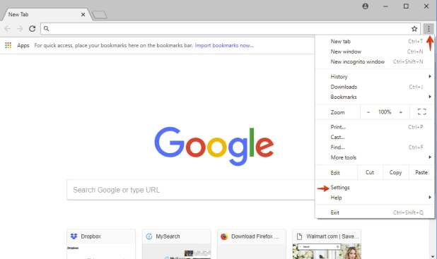 Google Chrome-Einstellungen