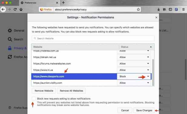 How to block unwanted notifications in Mozilla Firefox