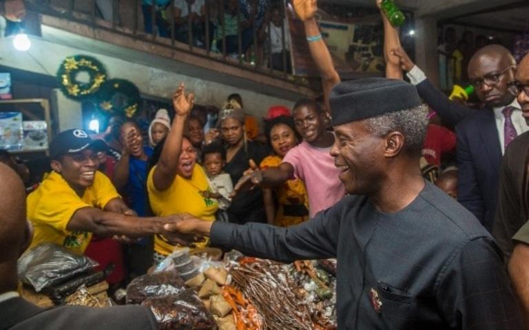 Osinbajo Launched TraderMoni in Warri, Asaba