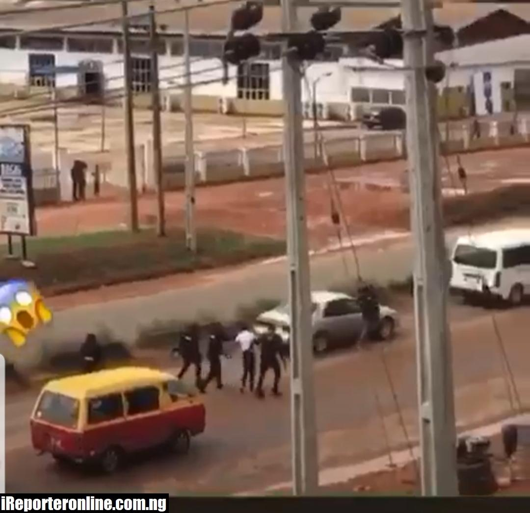 Viral Video Of Police Clash With Cult Boys At Sapele Road, Benin City