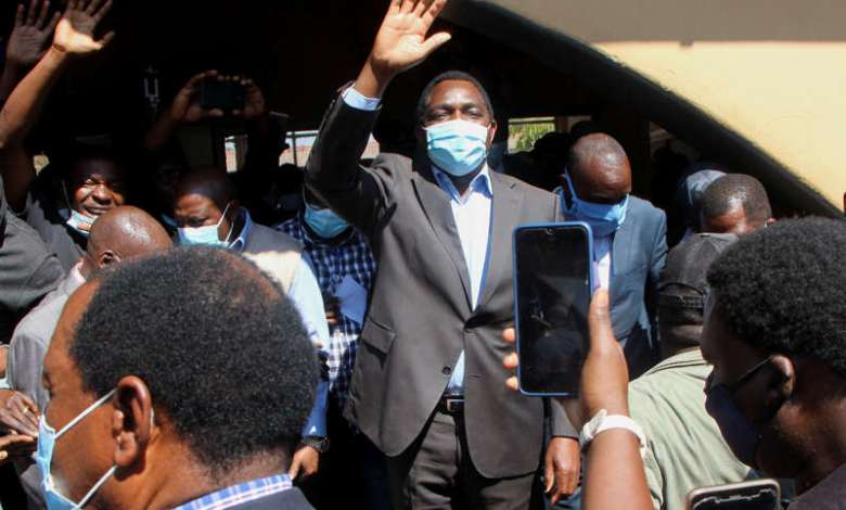 Zambia's Opposition Leader Hichilema Takes Early Presidential Election Lead