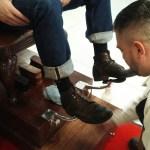 shoe shine stands in barber shops