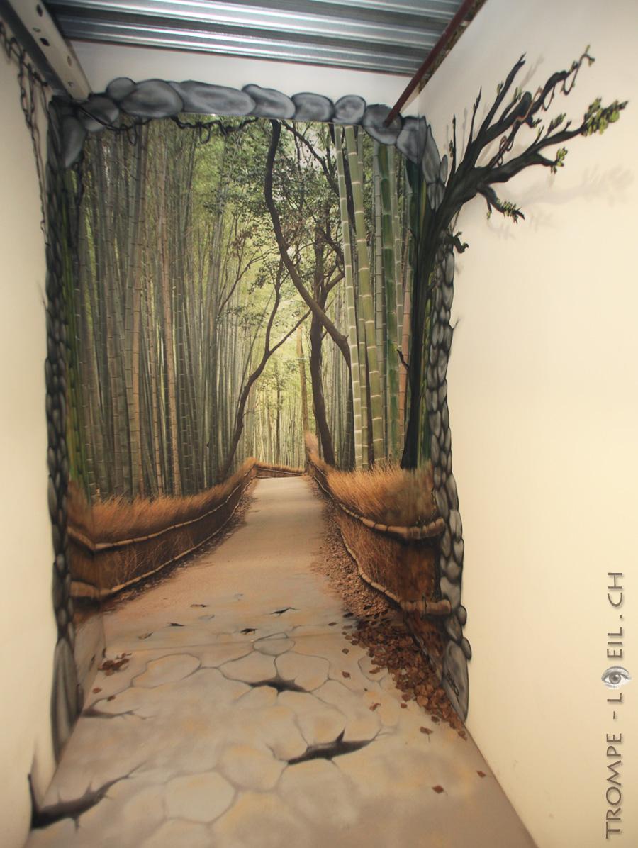 Chemin Nature En Trompe Loeil Dcoration TROMPE L OEIL