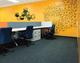 Thiết kế văn phòng hiện đại - tròn decor