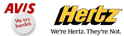 Hai slogan kinh điển của Avis và Hertz