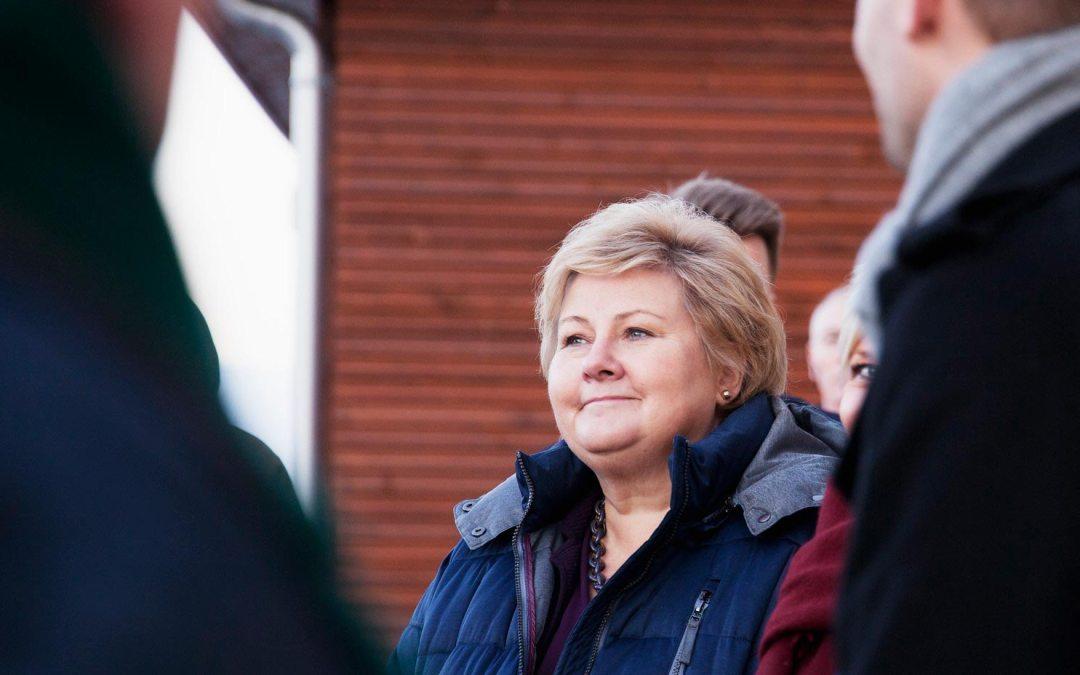 Ukas ros går til statsminister Erna Solberg