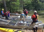 Scouts Getting into the Canoes on the Second Day