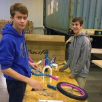 Constructing a bicycle