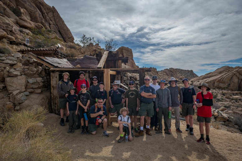 Troop 384 at the Mastodon Mine