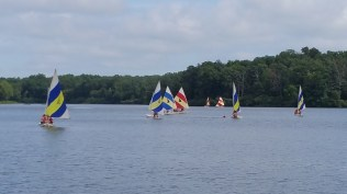 Sailboats on Nimm's Lake, From Camp
