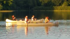 Tuesday Canoe Overnight - Steven and Chris, Mr Birtley and Feldewerth