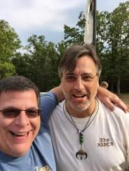 Mr Hufford Meets an Old Friend at Camp