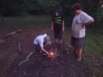Tuesday Canoe Overnight - Starting the Fire