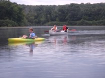 Return From Tuesday Canoe Overnight - Chris and Steven with Will, Our TC
