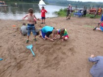 Wednesday Beach Party - Sandcastle Building Competition - James Surveying the Scene