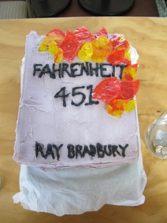 Bradbury's book Fahrenheit 451 envisions a future in which books are outlawed. Photo: Hal B. Klein.