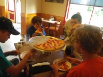 Pizza after the trip