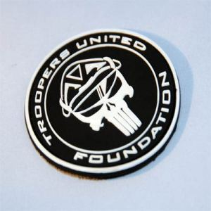 TUF Velco Morale Patch (Black and White)