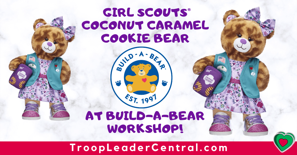 Girl Scout coconut caramel cookie bear at Build-A-Bear Workshop